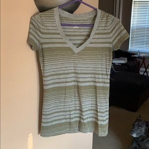 Fitted v neck top